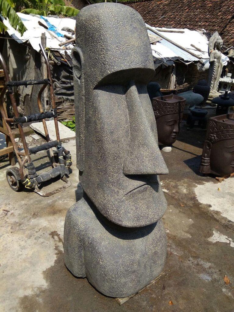 skulpturen - skulptur moai steinskulptur rapa nui maori figur - ein