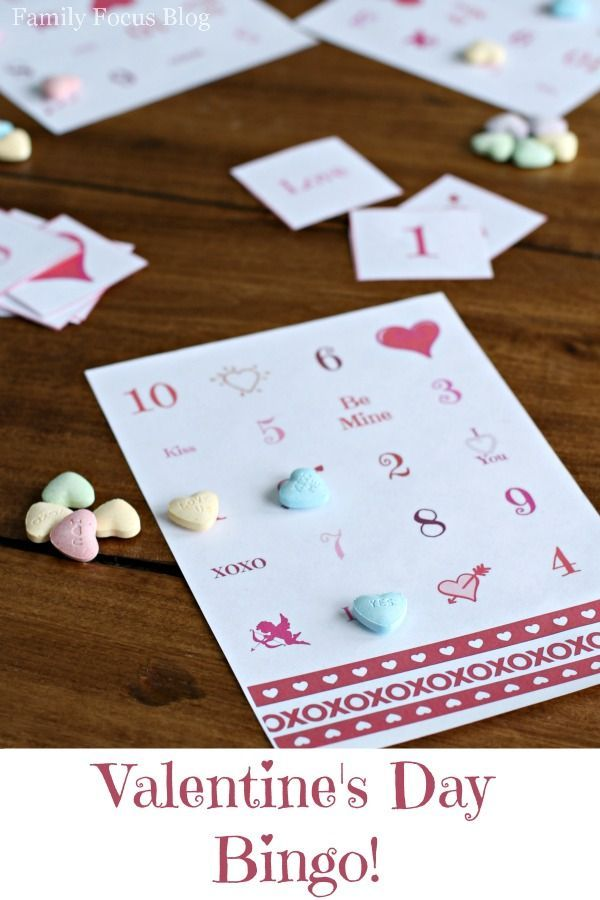 this free printable valentines day bingo game is so much fun quick and easy game - Free Valentine Games