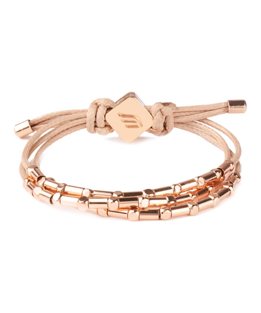 Look at this nude u rose goldtone honey bracelet on zulily today