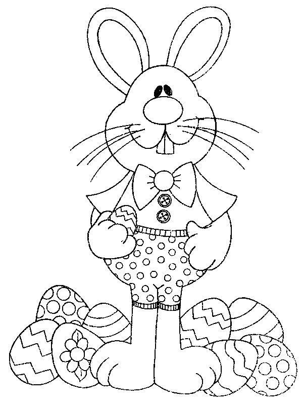 Desenhos Coelhinhos Pintura Pascoa Imprimir Colorir 2 Com