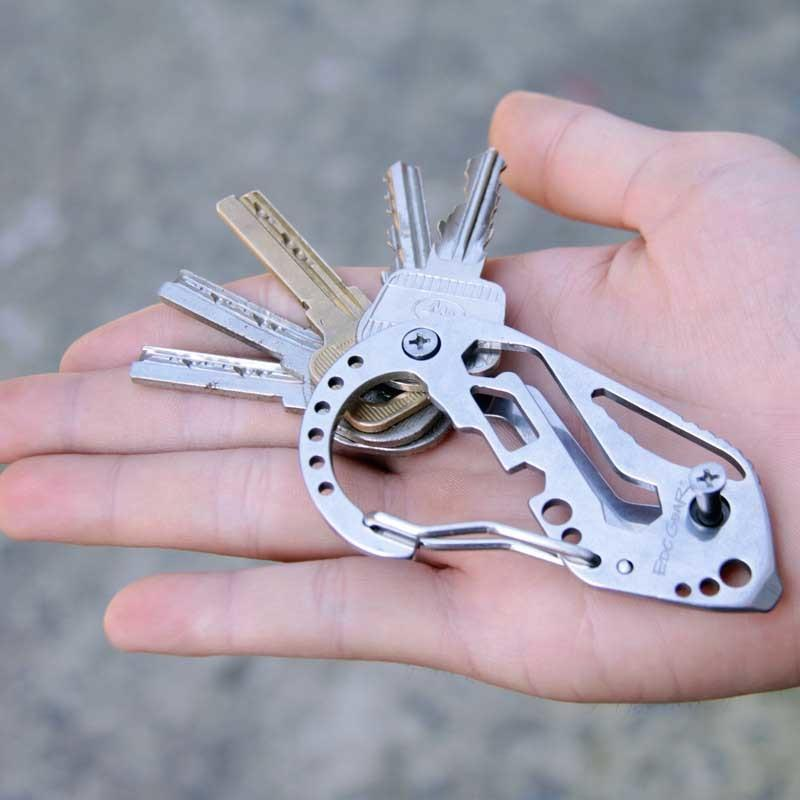 Tools Key Camping Wrench Stainless Steel Multi-function Carabiner Screwdriver