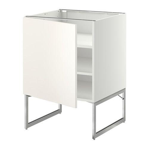 METOD Onderkast met planken, wit, Veddinge wit Shelves - ikea küchen unterschränke