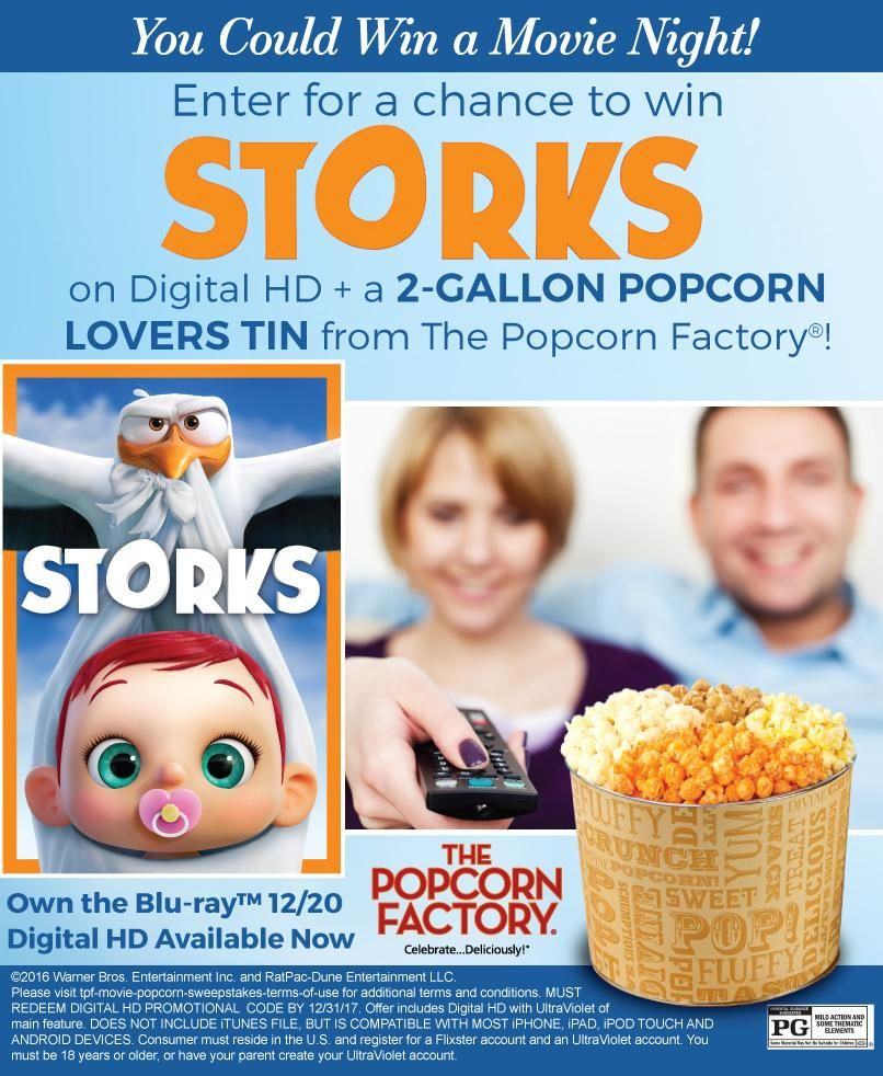Food and drink sweepstakes family movie night sweet