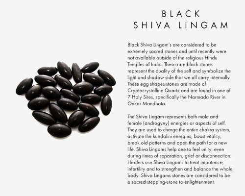 Black Shiva Lingams Are Considered To Be Extremely Sacred Stones