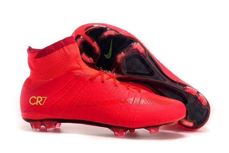 Nike Mercurial Superfly Cr7 Fg Soccer Cleats Red Gold Zapatos De Futbol Botines Futbol Tacos De Futbol
