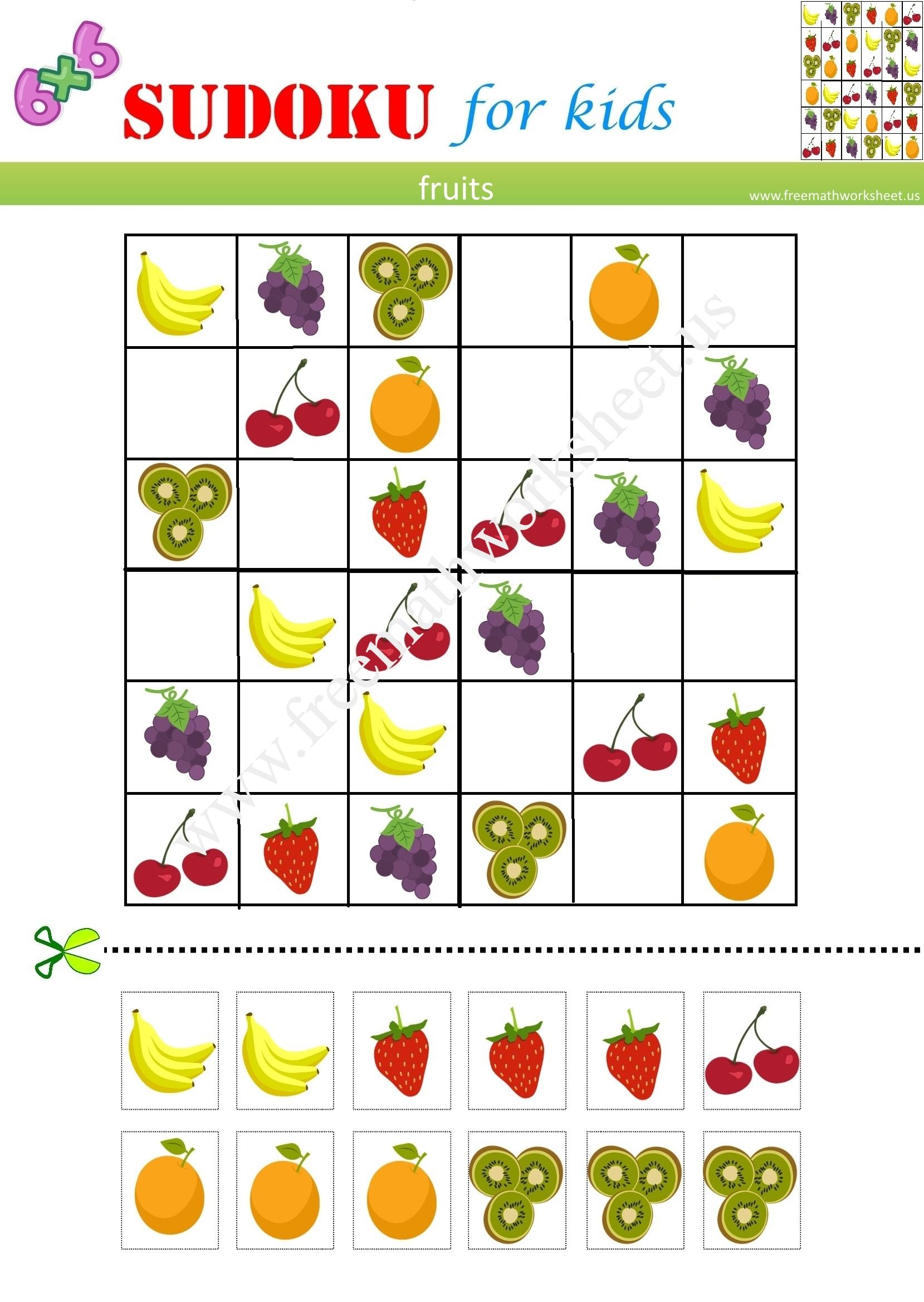 It Is Orjinal Sudoku 6x6 And Free Picturesudoku
