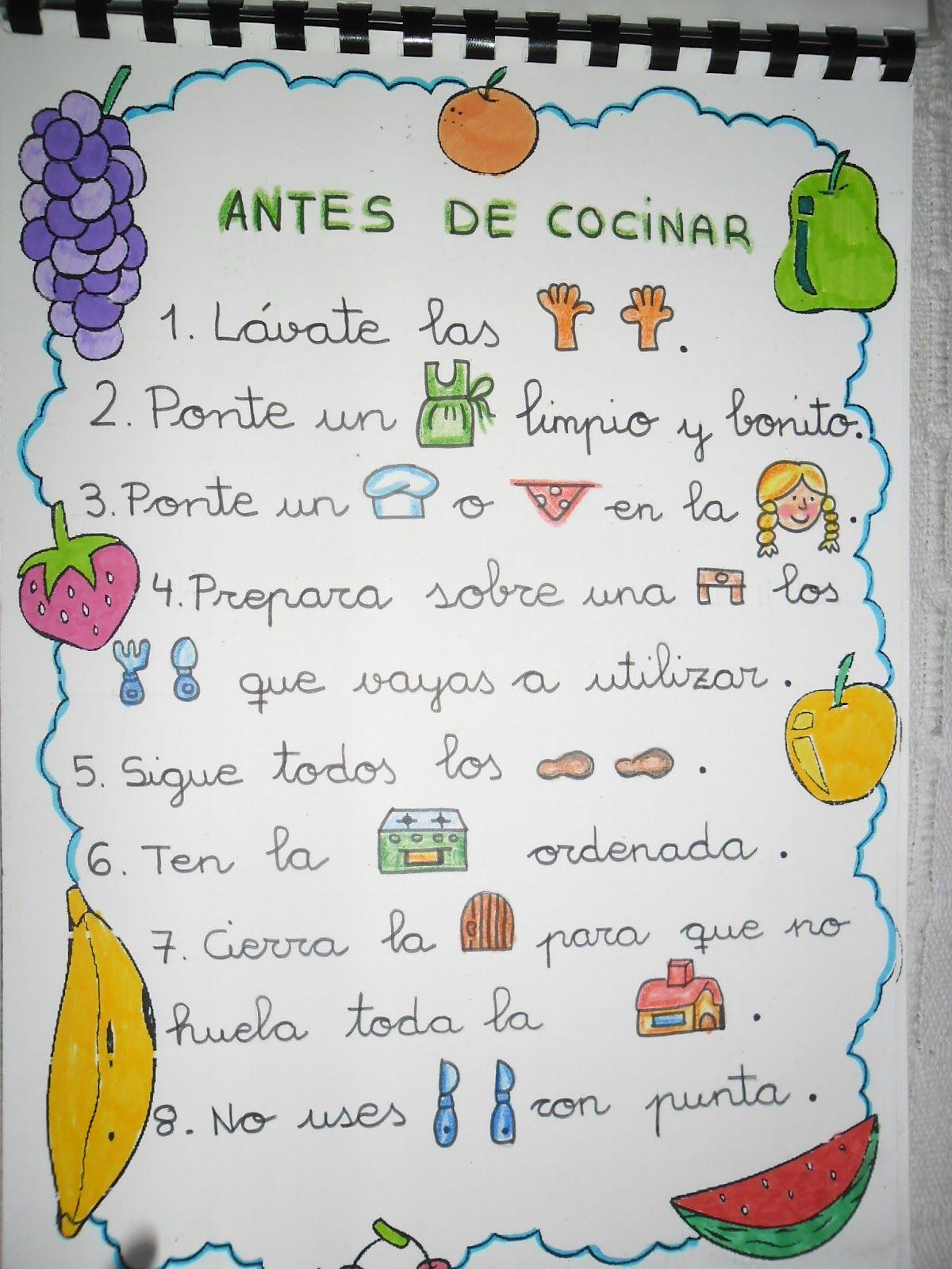 Resultado de imaxes para receta de cocina con pictogramas - Recets de cocina ...