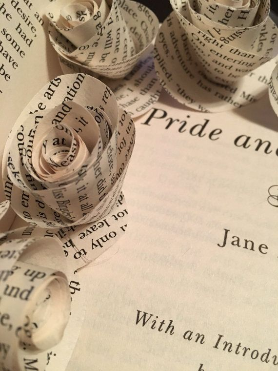 Set of paper flowers made from the pages of pride and prejudice by set of paper flowers made from the pages of pride and prejudice by jane austen mightylinksfo