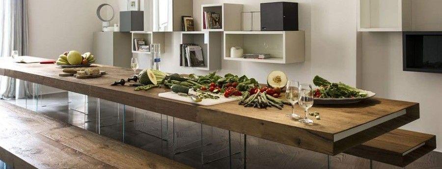 Tavolo da pranzo in legno rovere grezzo vissuto - Desenzano del ...