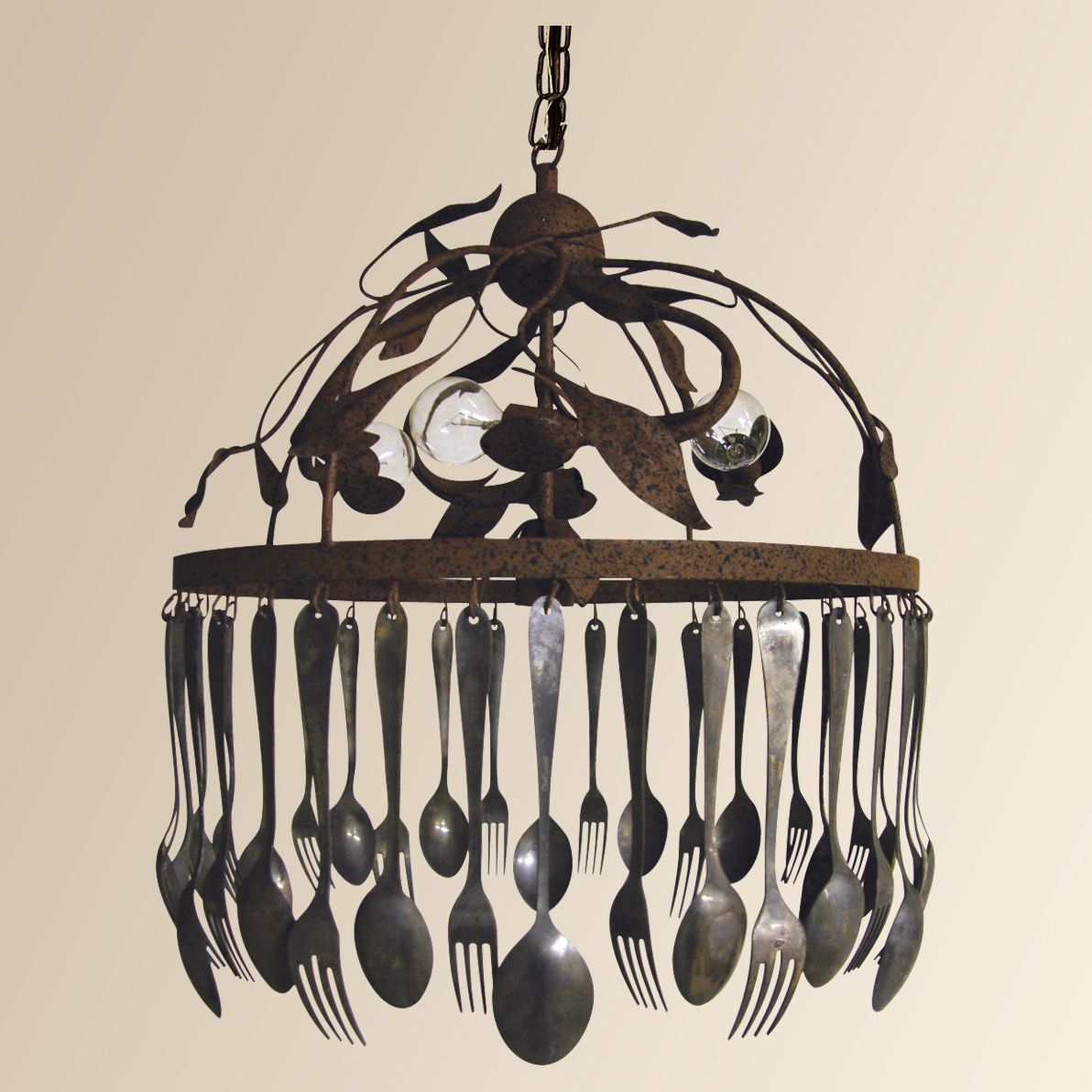 Spoon and fork chandelier Chandelier, Unique chandeliers