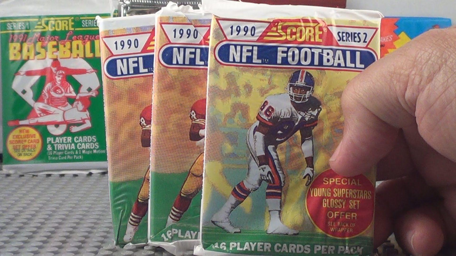 1990 score football series 2 pack openings 3 packs