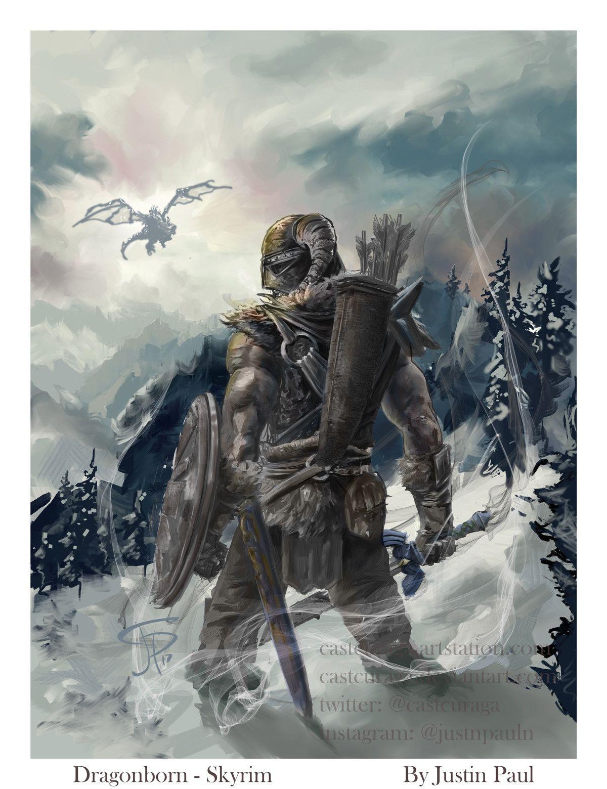 ArtStation - Dragonborn - Skyrim ( Switch Player magazine