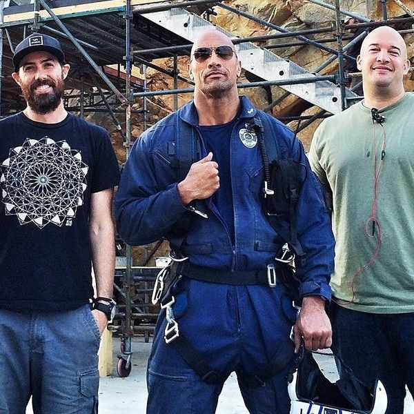 New 'San Andreas' Set Photo with Dwayne Johnson.Some scenes have been shot at the pines shopping centre and the rocks presence has caused quite a stir.