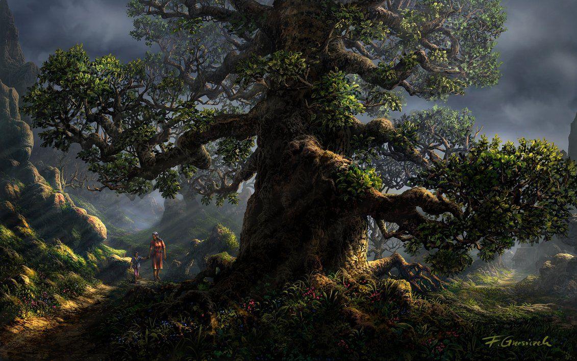 Old tree by Fel-X.deviantart.com on @DeviantArt