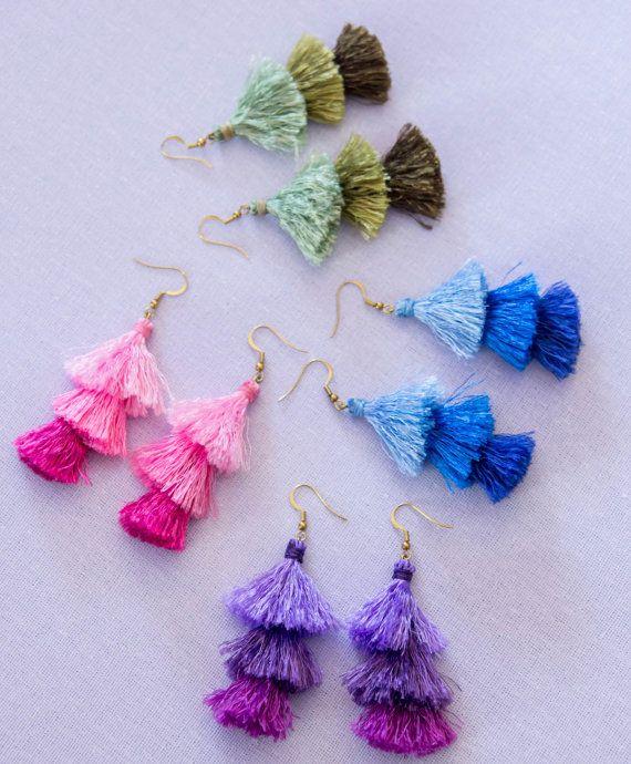 Tassels earrings hippie boho tassel