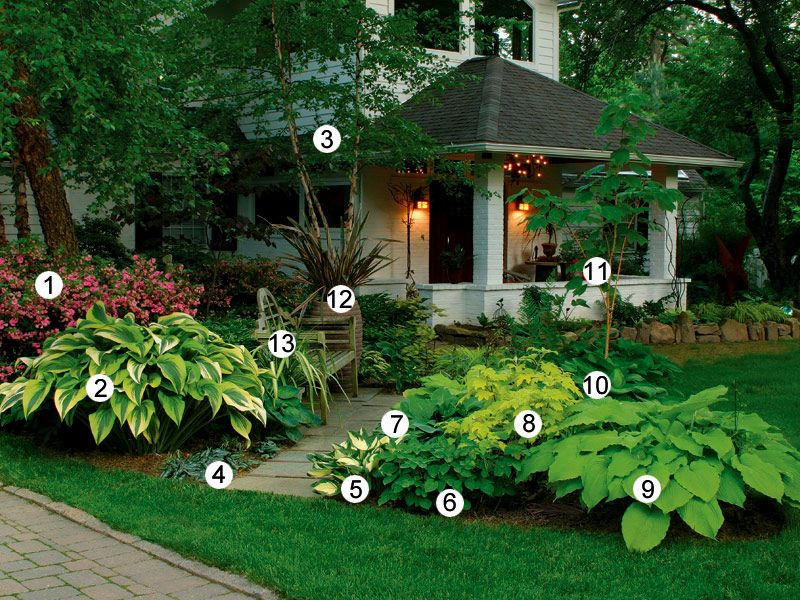 Shade Garden Ideas Zone 4 - Garden View Landscape | Front ... on Shady Yard Ideas  id=15198