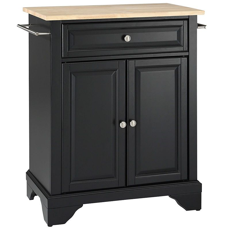 Chatham Small Natural-Wood-Top Portable Kitchen Island Products in