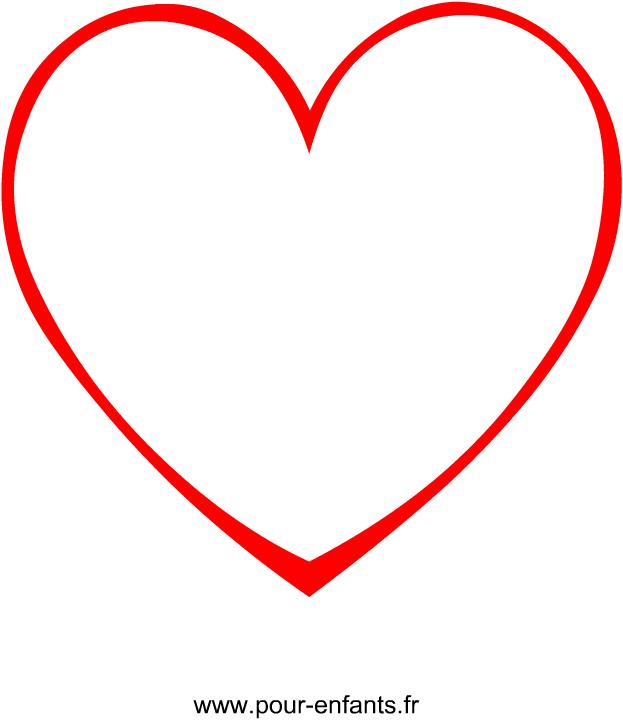 Un dessin de coeur imprimer avec ce mod le en forme de de coeur vous pourrez faire plein d - Modele de coeur a decouper ...