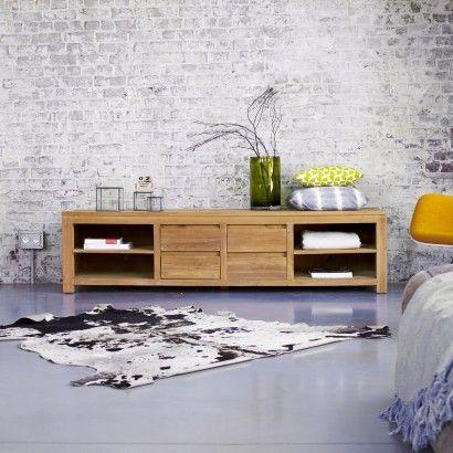 Teak Tv Unit Jonak 140 Tv Furniture Furniture Solid Wood Tv Stand