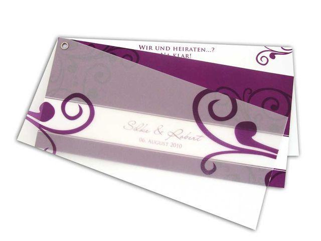 Hochzeitseinladungskaten+-+Elegantes+&+dunkles+Lila
