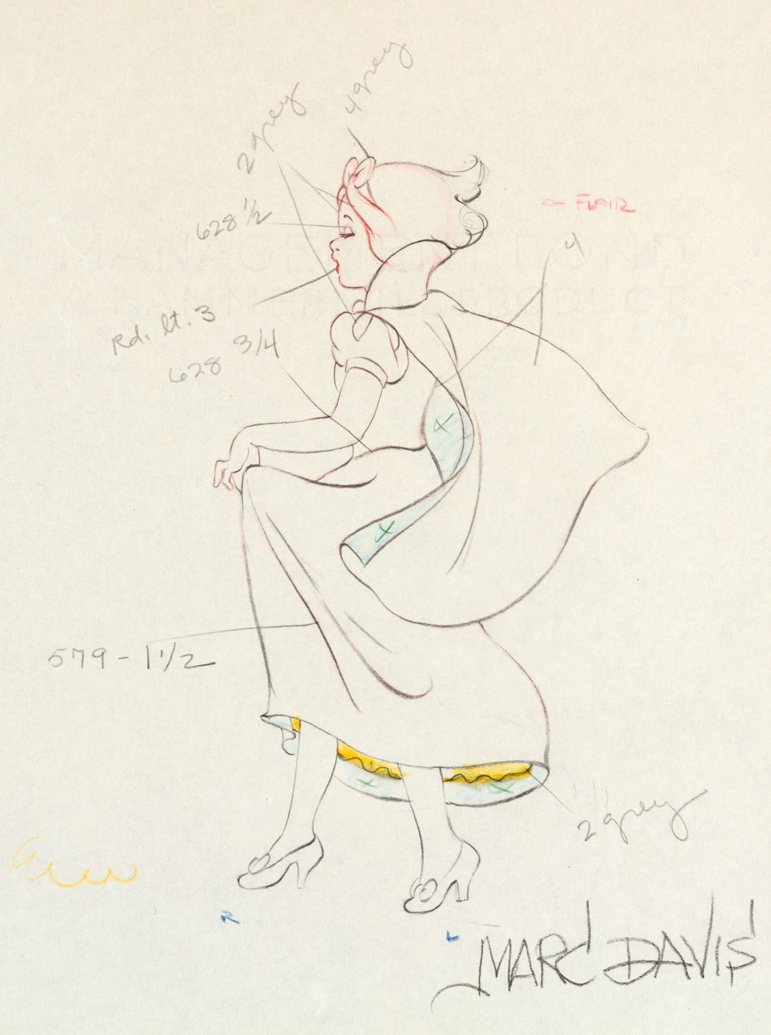 Snow White And The Seven Dwarfs Color Modelanimation Drawing By