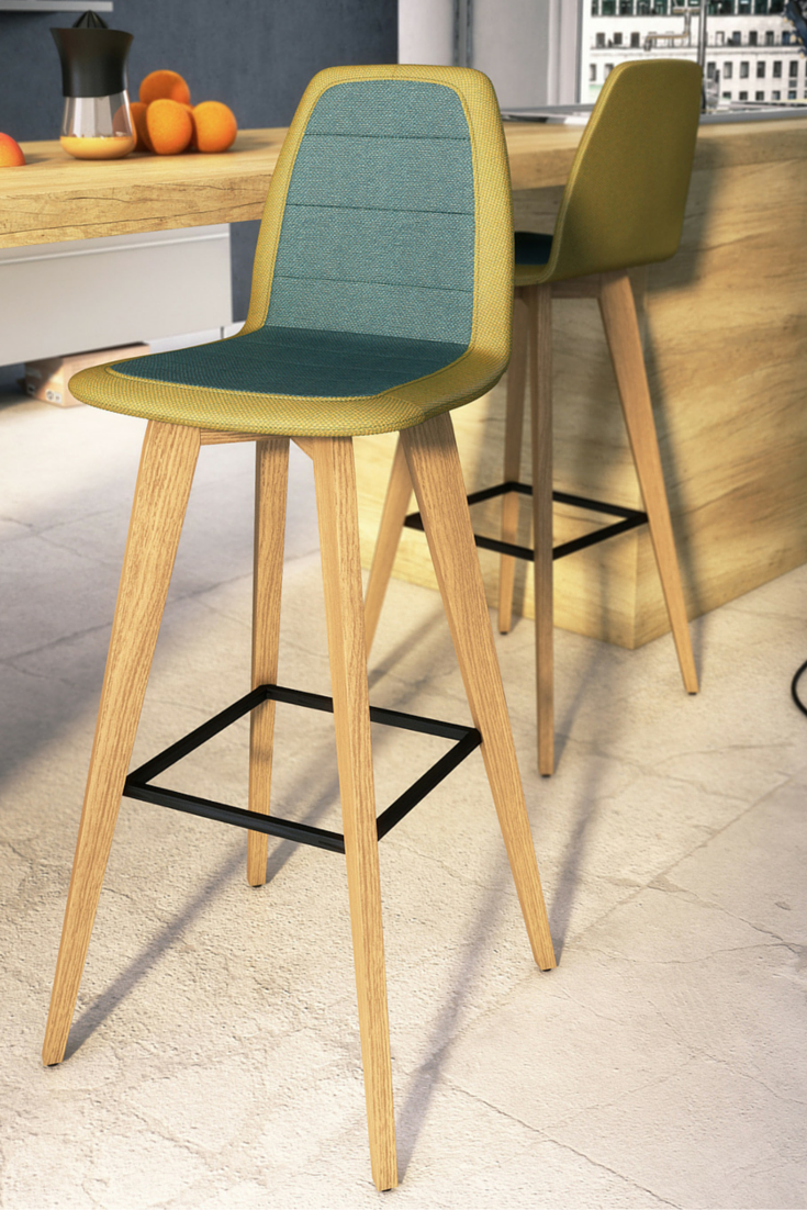 kitchen high chairs Bicolor design high chairs by Mobitec Perfect for a modern kitchen