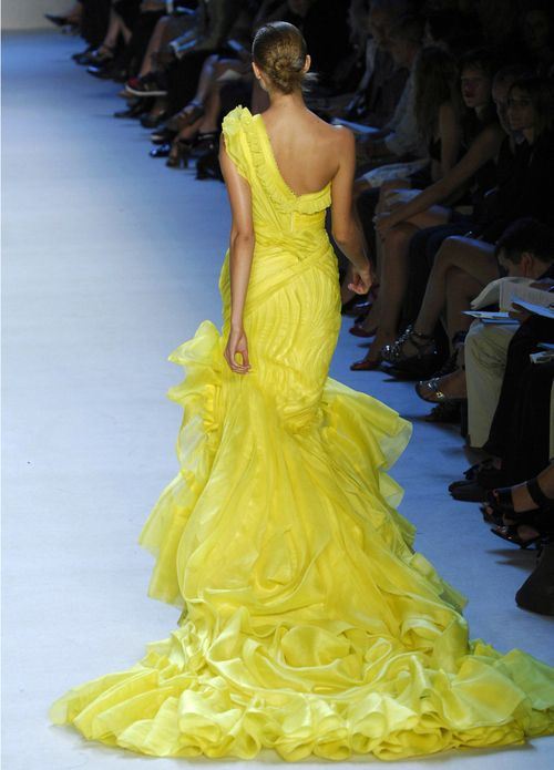 Beautiful one shoulder yellow dress