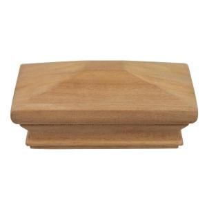 Protectyte Miterless 4 In X 4 In Untreated Wood Pyramid Slip Over Fence Post Cap Hdpy358 Fence Post Caps Wood Grain Wood Post