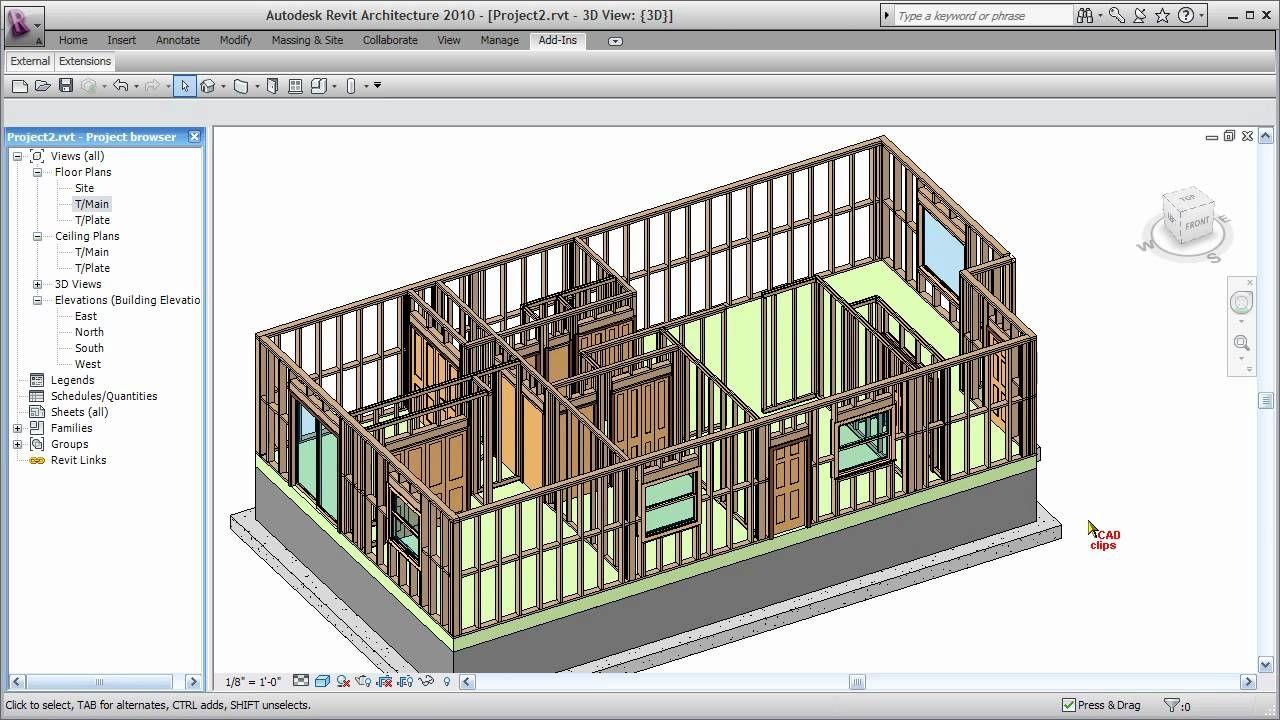 Revit Wood Framing Walls Extension Cadclip Home Design Software Picture Frame Designs Timber Frame Plans