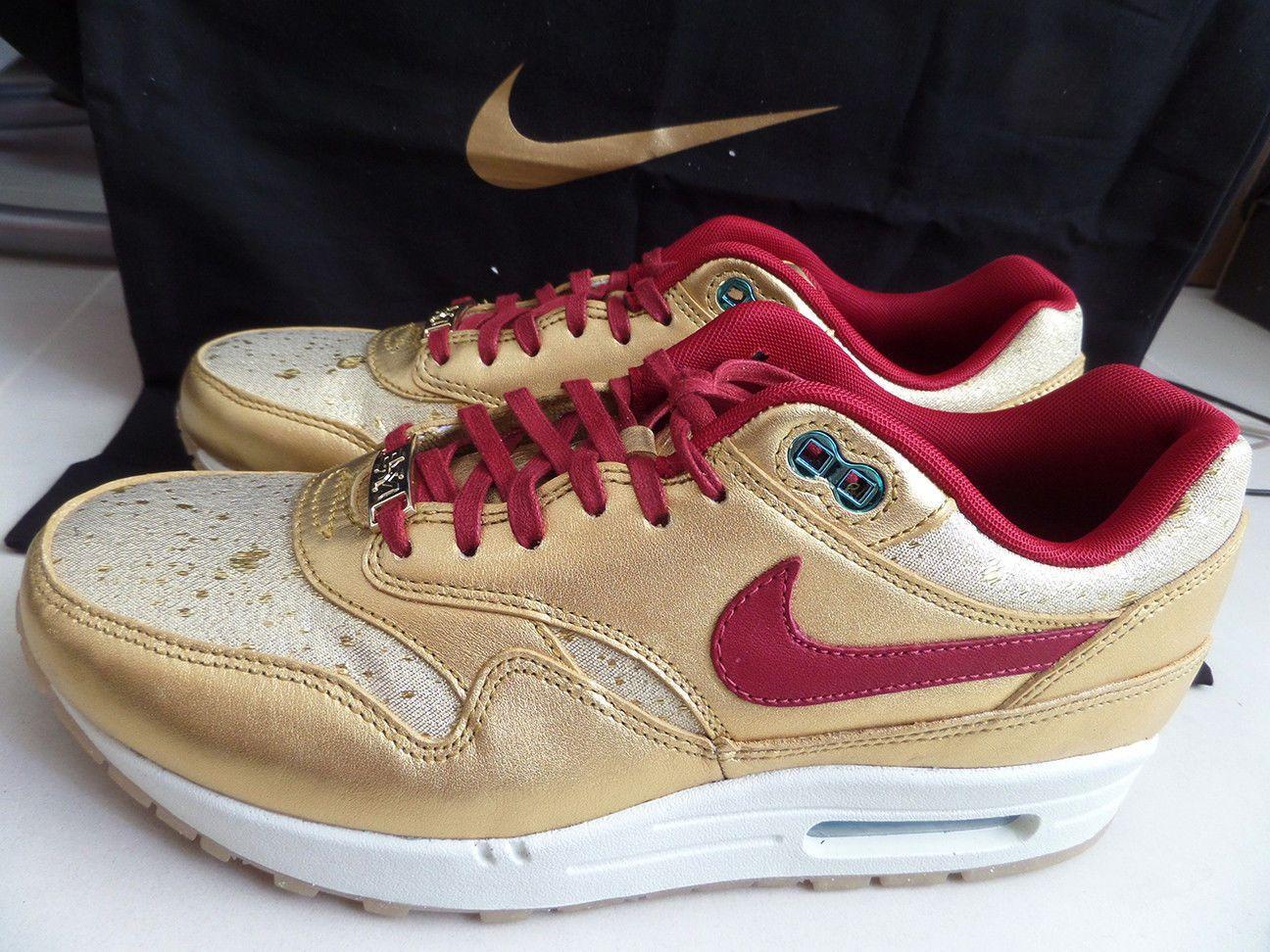 100% Auth Nike Women's Air Max 1 BHM QS sz 9 [652115 700