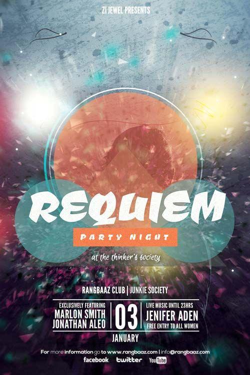 Free Requiem Party Flyer Template  HttpFreepsdflyerComFree