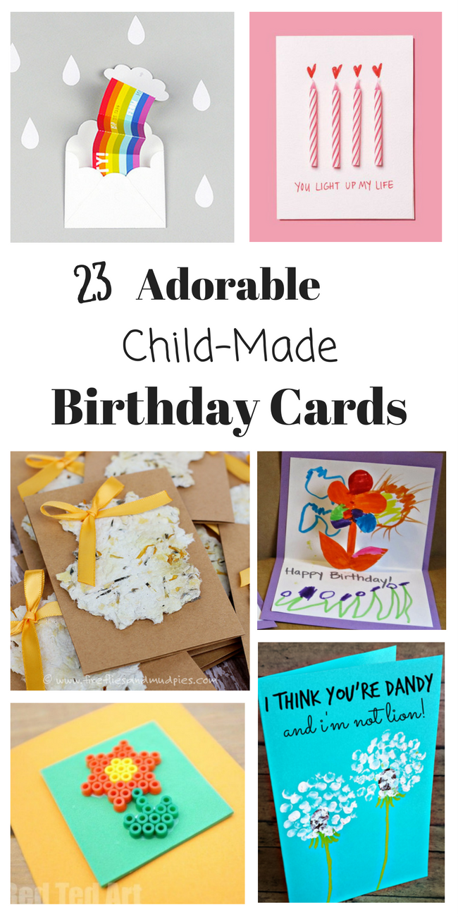 Homemade Birthday Cards for Kids to Create Homemade birthday cards
