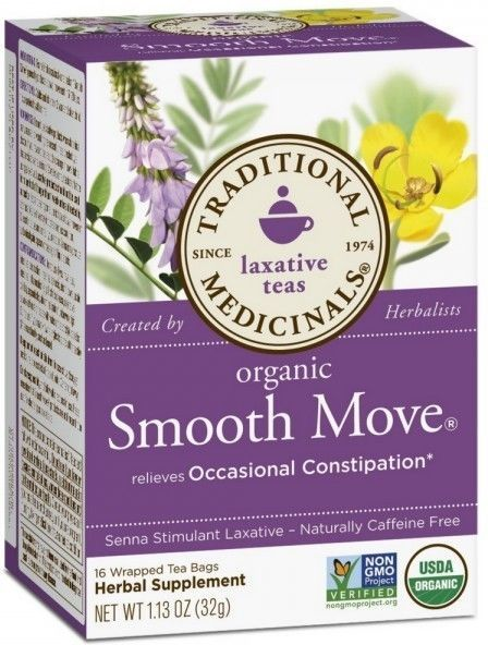 12 52 Organic Smooth Move Senna Tea Traditional Medicinals