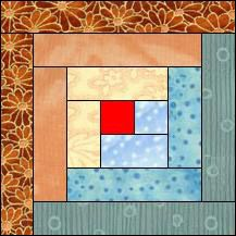 Have I mentioned lately that this is my very favorite quilt pattern???? Block of Day for February 27, 2015 - Log Cabin