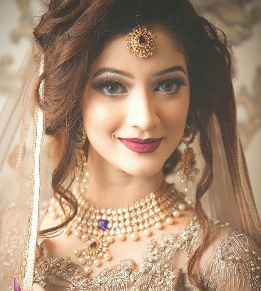 Weddingday Wedding Weddingbells Weddingdress Weddingmakeup Reddress Barat Walima Pakistani Bridal Hairstyles Bridal Makeup Looks Indian Wedding Makeup