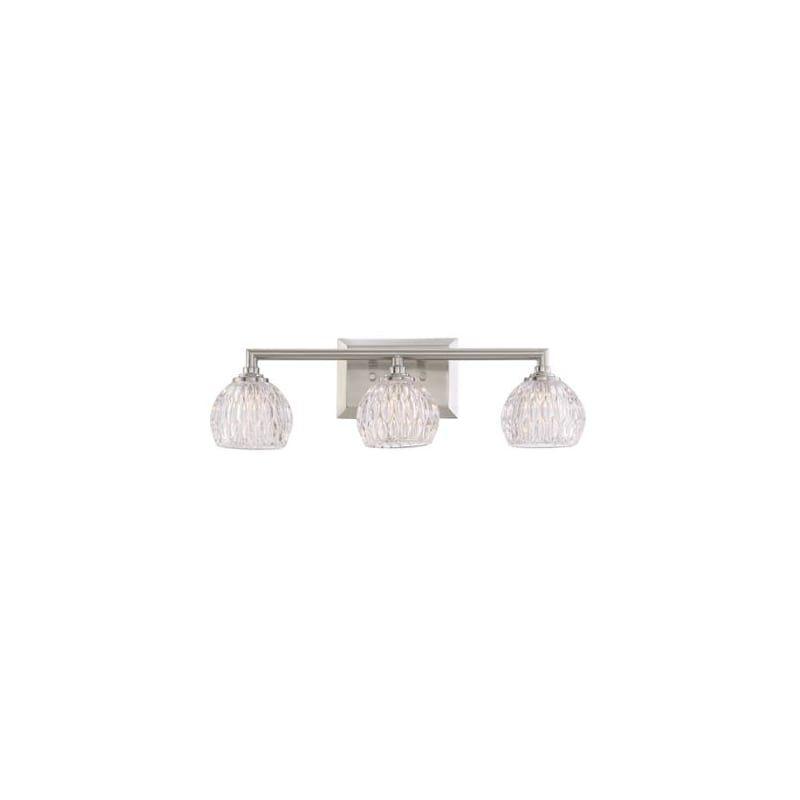 Photo of Quoizel PCSA8603 Serena 3-Light Bath Light Brushed Nickel Indoor Lighting Bathroom Fixtures Vanity Light