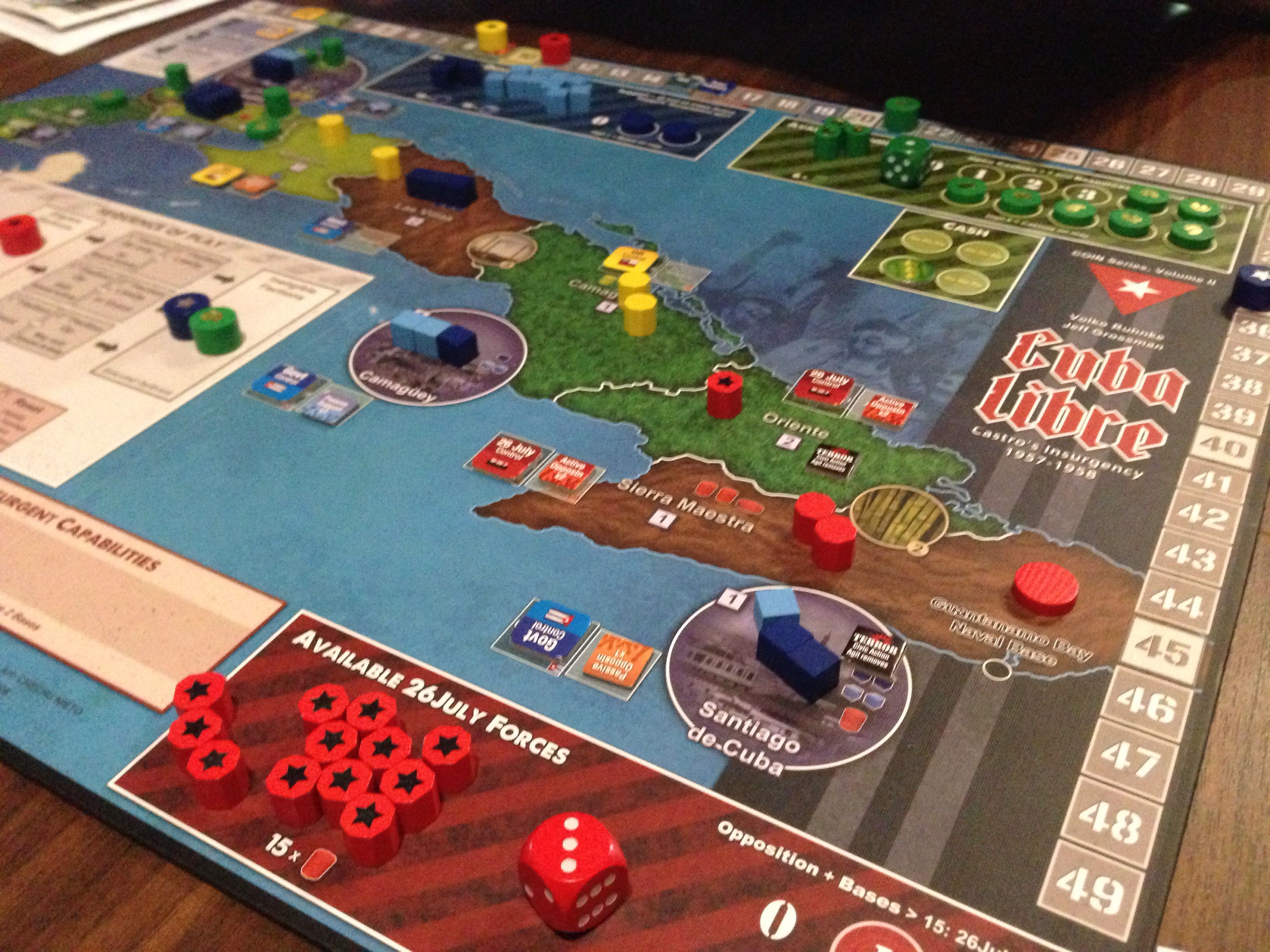 Boardgames; Cuba Libre Photographer Tara Green Board