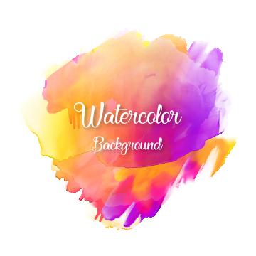 2019 的 Colorful Abstract Watercolor Background With