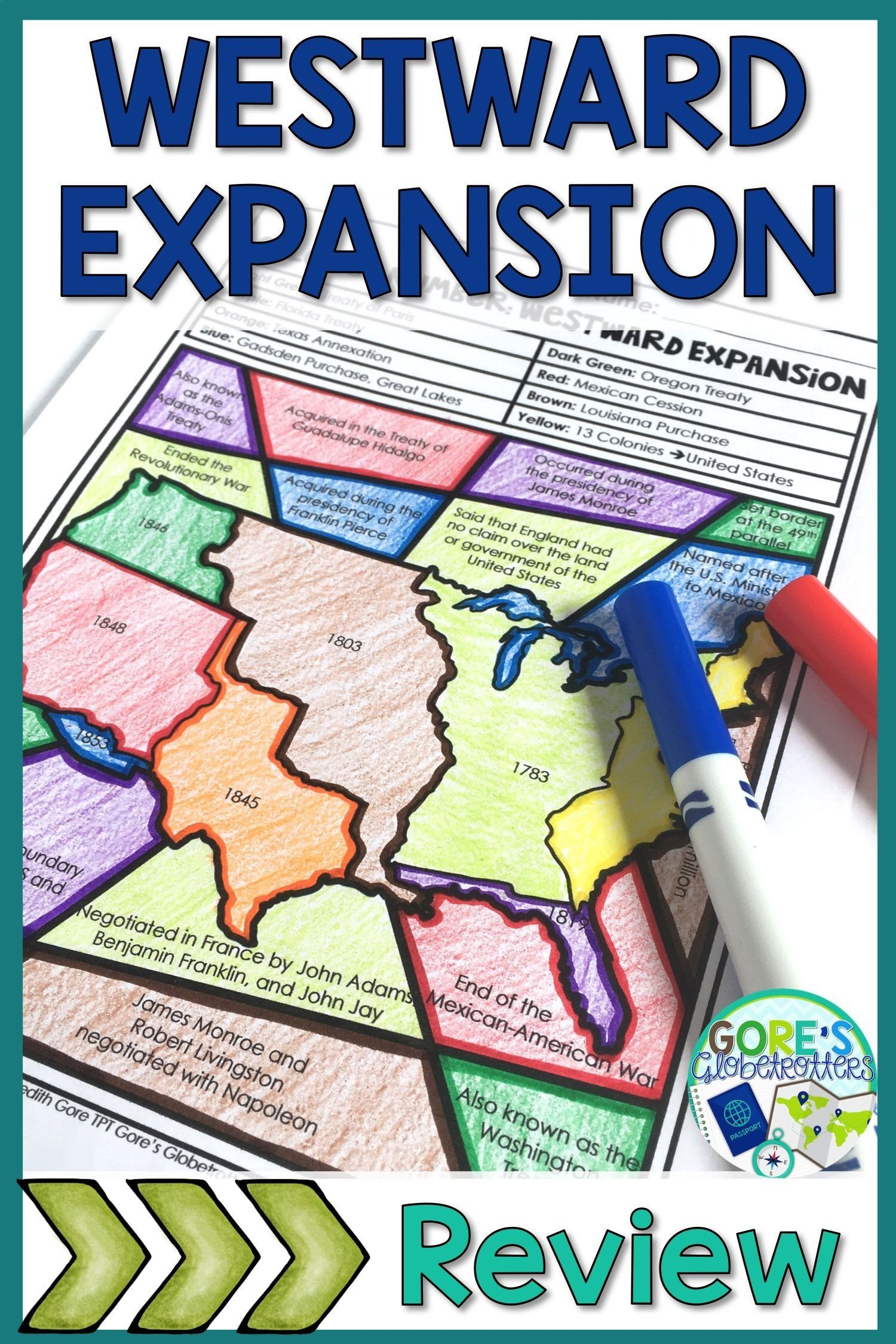 Westward Expansion Map Worksheet Westward Expansion