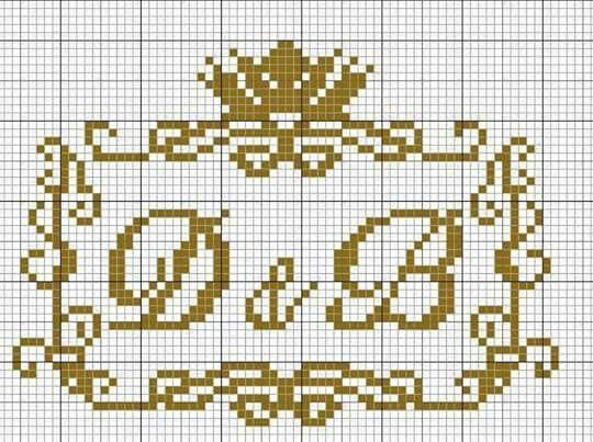 Pin De Diana Santa Ana Em Cross Stitch Letters Coroas Em Ponto