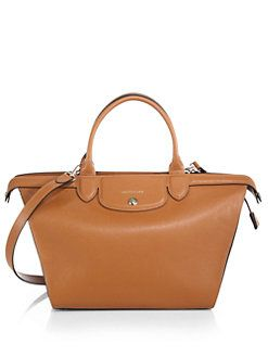 c4470aa31bbd Longchamp - Le Pliage Heritage Saffiano-Leather Satchel