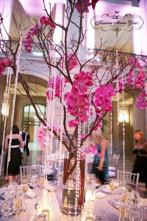Reception Pink Silver Table Setting Karina Marie Diaz San Francisco City Hall