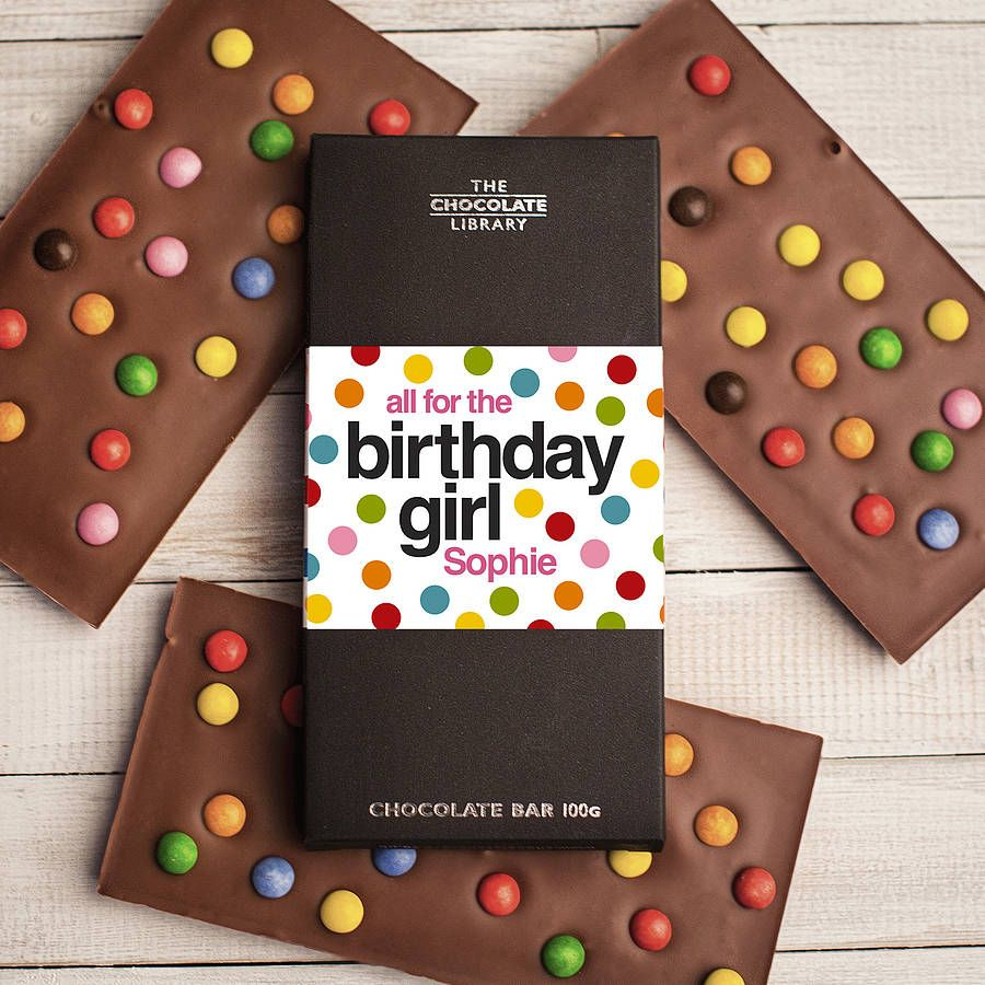 personalised happy birthday chocolate bar by quirky gift library – Chocolate Birthday Cards