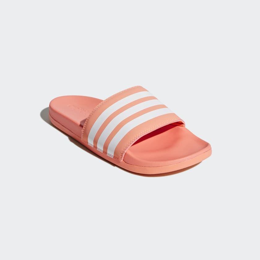 3ac5b82367fc Adilette Cloudfoam Plus Stripes Slides Pink 10 Womens