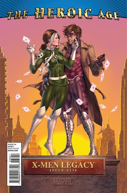 X Men Legacy 236 Heroic Age Variant Rogue And Gambit By Mike Choi Heroic Age Rogue Gambit X Men