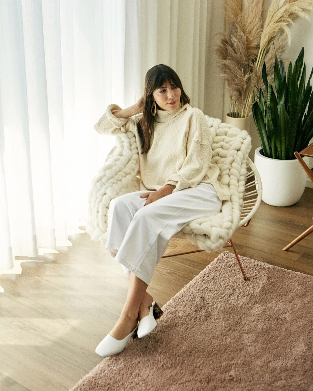 """Whimsy + Row on Instagram: """"Our Saturday cozy mood in the Haley Knit and Flora Pants, newly m..."""