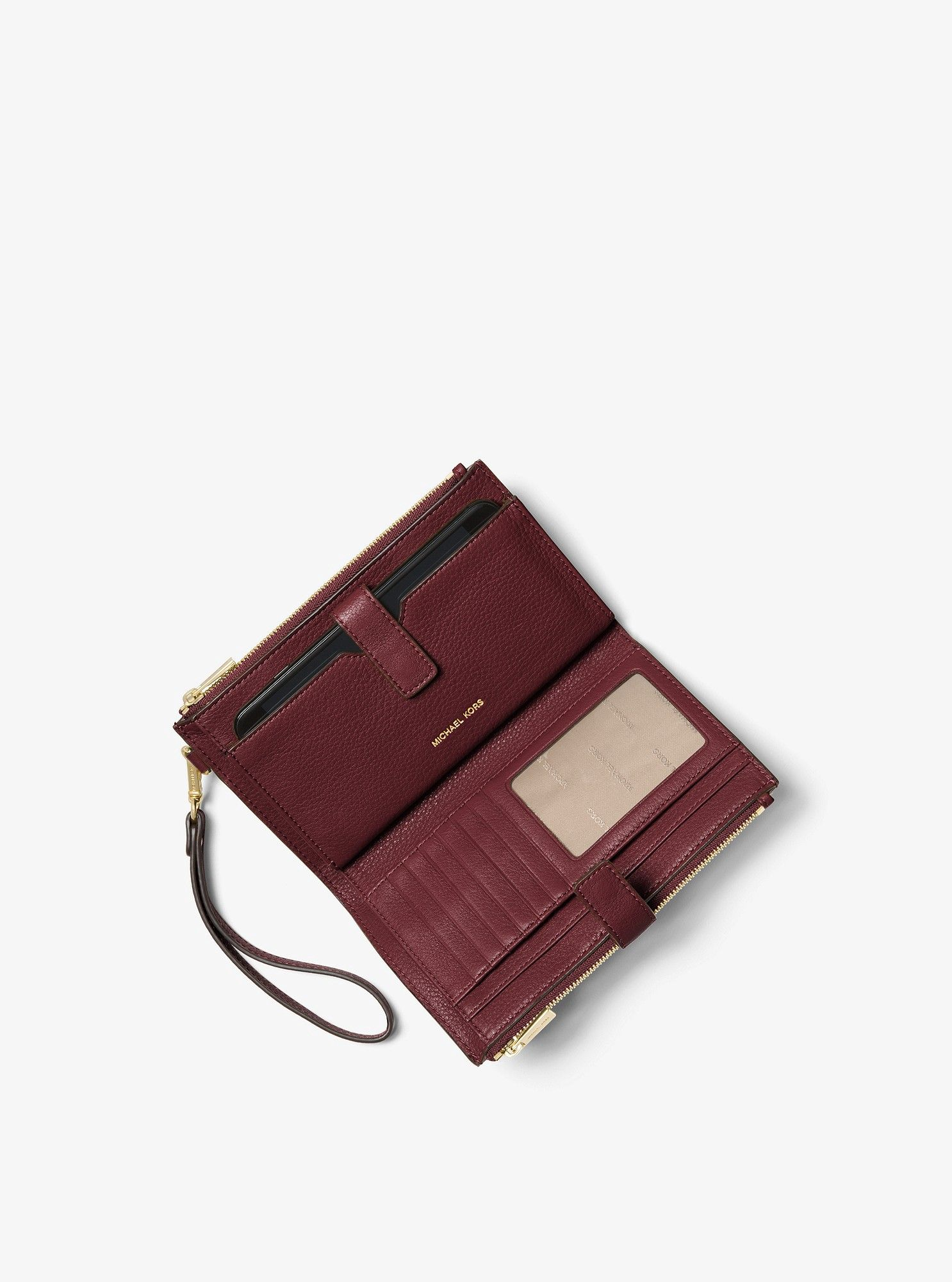 90e9fccb5df035 Michael Kors Adele Leather Smartphone Wristlet - Black | Products ...