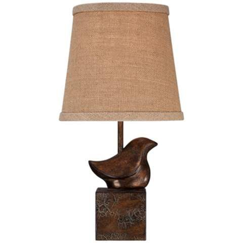 Bird Moderne Crackle Finish Small Accent Lamp   #X6612 | LampsPlus.com