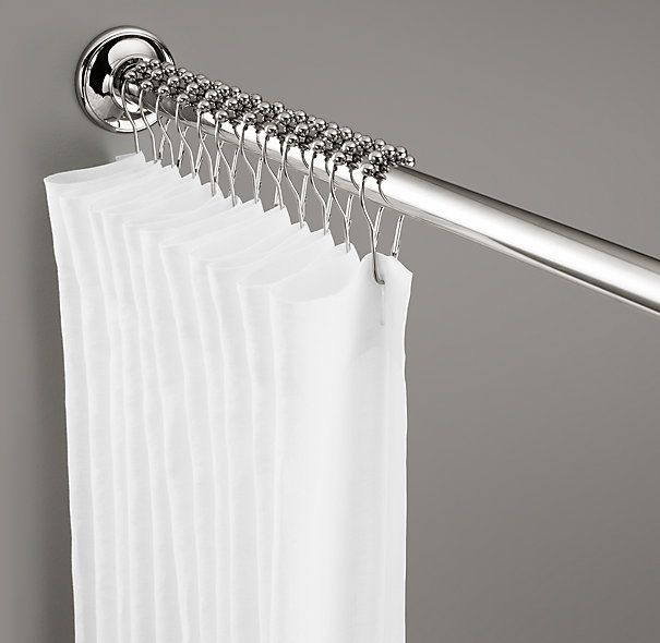 Flared Shower Rod Set Shower Rod Hotel Shower Curtain Shower