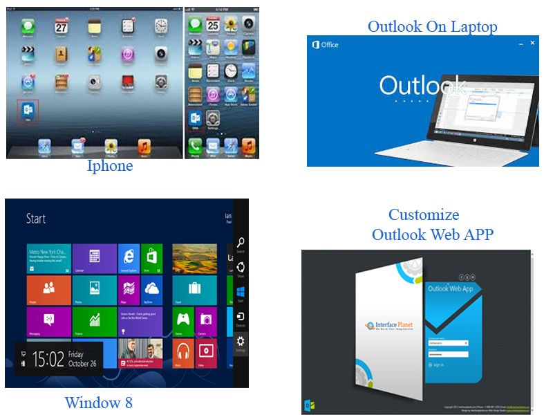 Custom outlook web app 2013, outlook web access, interface